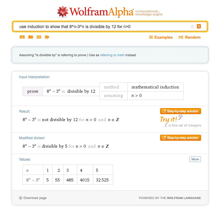 proof wolfram alpha